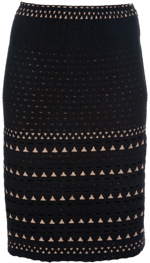 Alaia knitted skirt