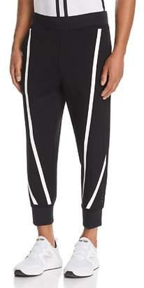 BLACKBARRETT by NEIL BARRETT Tape-Stripe Cropped Scuba Sweatpants