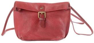 EAZO - Folded-Top Leather Cross-Body Bag In Red