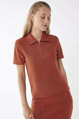 Stussy Faye Quarter- Zip Collared Shirt