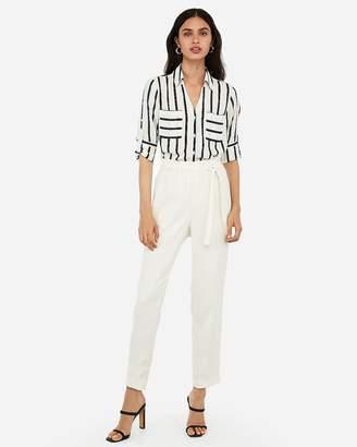 Express Slim Fit Striped Portofino Thong Bodysuit
