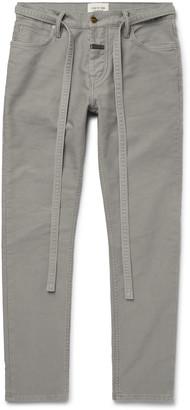 Fear Of God Slim-Fit Belted Cotton-Corduroy Jeans - Men - Gray