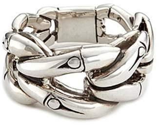 John Hardy Silver bamboo loop ring