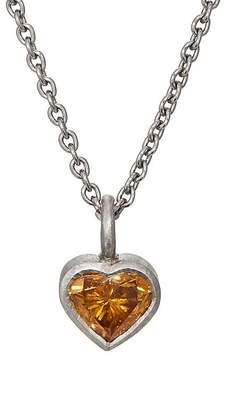 Malcolm Betts Women's Heart-Shaped Charm Necklace