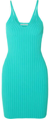 Alexander Wang Ribbed Stretch-knit Mini Dress