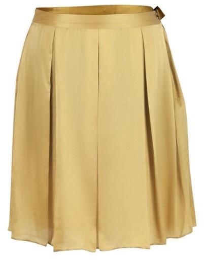Gaspard Yurkievich Gold Silk Skirt
