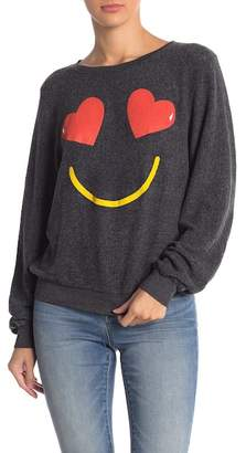 Wildfox Couture Essential Smiling Hearts Pullover