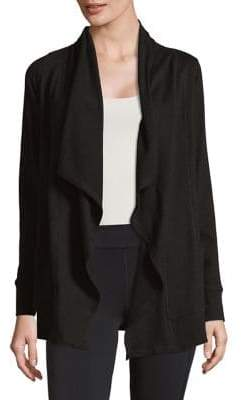 ASKYA Relaxed-Fit Shawl Open Front Cardigan