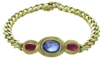 Bulgari 18K Yellow Gold Sapphire Ruby Interchangeable Bracelet Necklace