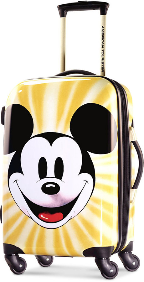 """DisneyDisney Mickey Mouse Face 21"""" Hardside Spinner Suitcase by American Tourister"""
