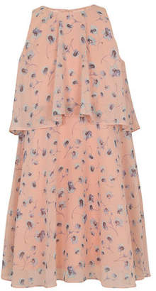 BCBGMAXAZRIA Waterfall Poppies Sleeveless A-Line Dress
