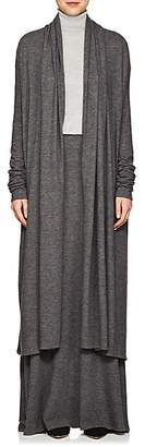 The Row Women's Renate Fine-Gauge Cashmere Cardigan - Dark Gray Melange