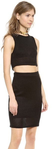 For Love & Lemons Sporty Knit Crop Top