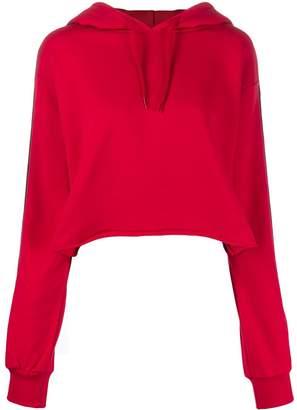 Gaelle Bonheur logo lined hoodie