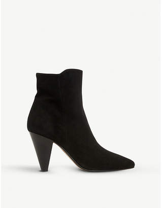 Dune Odell cone-heel ankle boots