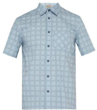 Bottega Veneta Dot Grid Print Shirt - Mens - Light Blue