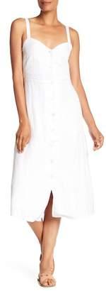 Lucky Brand Button Up Linen Blend Dress