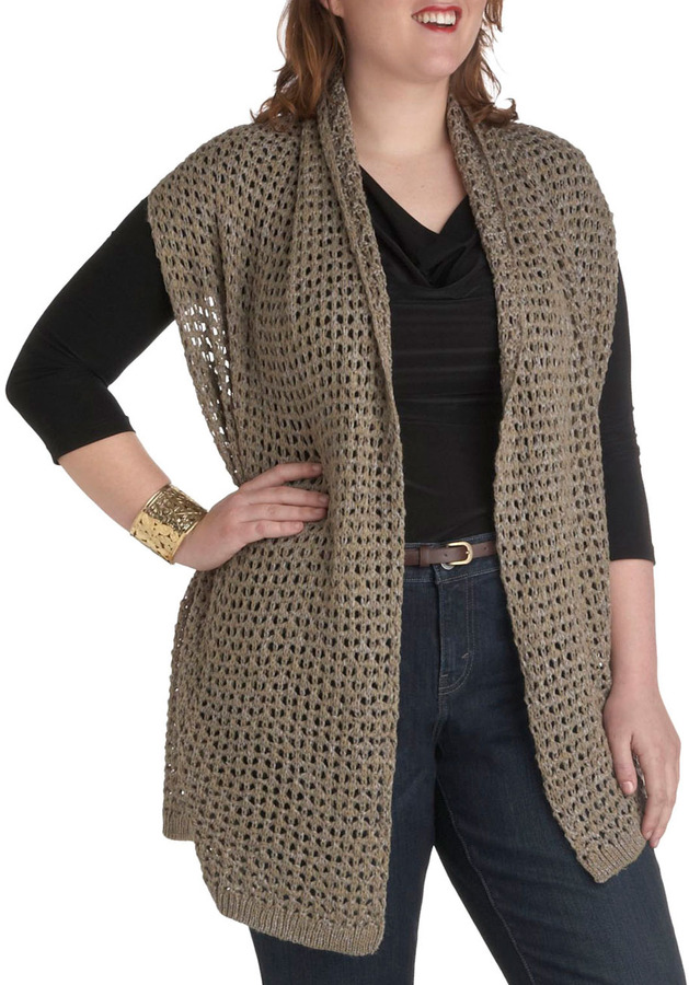 Neutral in Town Sweater Vest in Plus Sizes