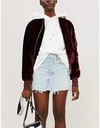 A Gold E AGOLDE Quinn high-rise denim mini skirt