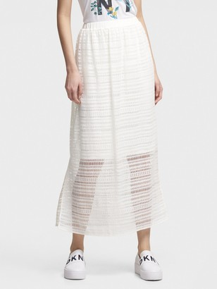 DKNY Lace Midi Skirt