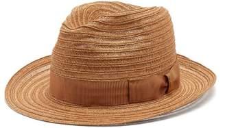 Borsalino Ribbon-embellished panama hat