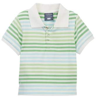Toobydoo Green Meadow Striped Polo Shirt (Little Boys)