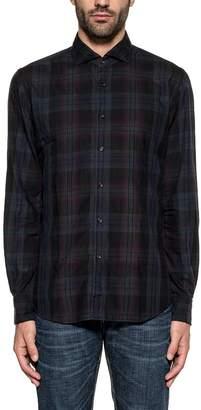 Xacus Blue/black/purple Checked Shirt