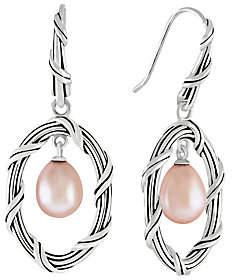 Peter Thomas Roth Sterling Oval Earrings w/Pearl Drop