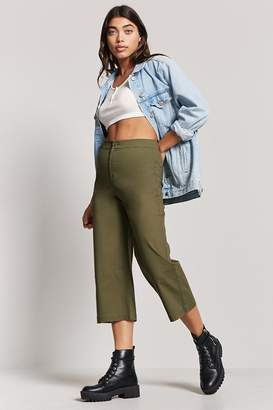 Forever 21 Cropped Wide-Leg Chino Pants