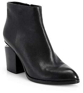Alexander Wang Women's Gabi Leather Almond Toe Booties