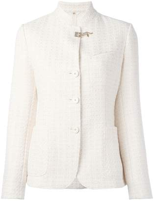 Fay embossed print fitted jacket
