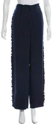 Cinq à Sept Wide-Leg Pinstripe Pants