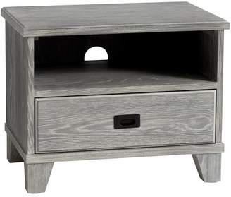 Pottery Barn Teen Findley Bedside Table, Water-Based Smoked Charcoal, UPS