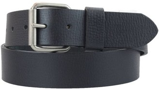 Montauk Leather Club 1-1/2 in. US Steer Hide Leather Pebble Grain Men's Belt w/ Antq. Nickel Roller Buckle