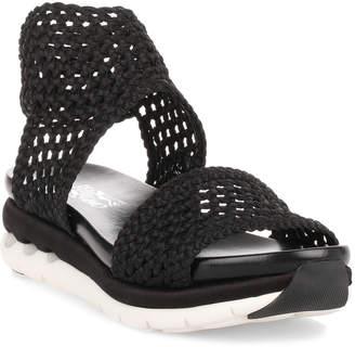 Salvatore Ferragamo Edam black braided sandal
