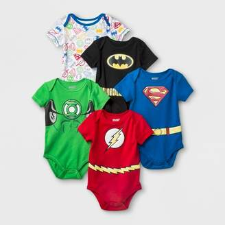 7978660a0b3adc at Target · Justice DC Comics Baby Boys' 5pk DC Comics League Bodysuit -  Blue/Red