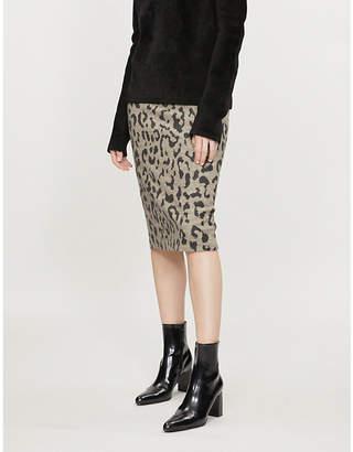 Max Mara Thomas leopard-patterned wool skirt
