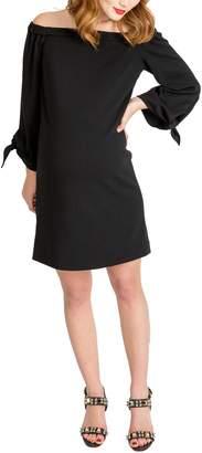 Octavia Nom Maternity Off The Shoulder Maternity Dress