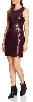 1 STATE 1.STATE Patent Faux-Leather Sheath Dress