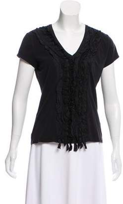 Max Mara Weekend Ruffle-Trimmed Short Sleeve T-Shirt