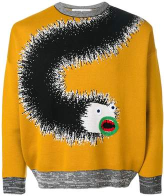 Henrik Vibskov applique detail printed sweatshirt