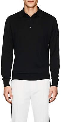John Smedley Men's Bradwell Cotton Polo Shirt - Black
