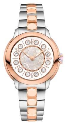 Fendi Ishine Rotating Semiprecious Stone Bracelet Watch, 33mm