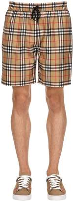 Burberry Check Nylon Swim Shorts