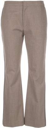 ADEAM stripe detail tailored trousers