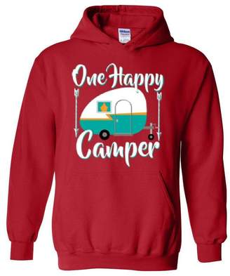 Camper Mom's Favorite Camping Hoodie One Happy Camping Outdoor Hobby Gift Unisex Hoodies Sweater