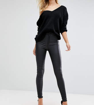 Missguided Tall Vice High Waisted Coated Skinny Jeans