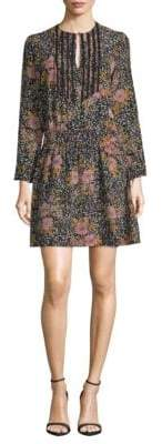 Zadig & Voltaire Floral Pintuck A-Line Dress