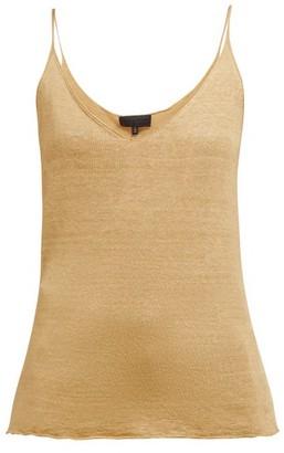 Nili Lotan Aspen Fine Knit Linen Tank Top - Womens - Brown
