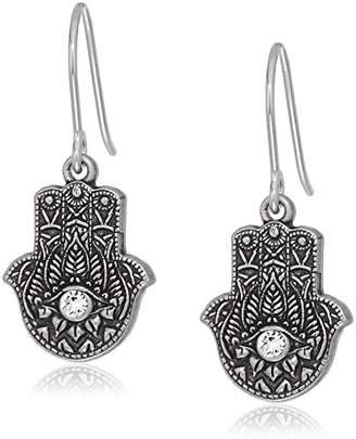 Alex and Ani Womens Hand of Fatima Hook Drop Earrings